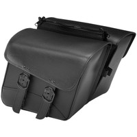 Willie & Max Black Jack Compact Slant Saddlebag Black