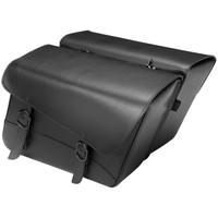 Willie & Max Black Jack Large Slant Saddlebag Black