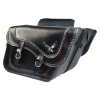 Willie & Max Black Magic Saddlebag Black Large