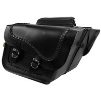 Willie & Max Braided Fleetside Slant Saddlebags Black