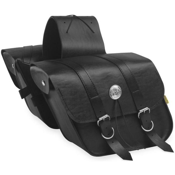 Willie & Max Compact Slant Saddlebag Black