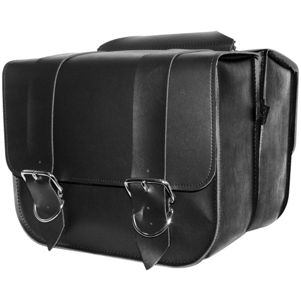 Willie & Max Leather Touring Saddlebags Black