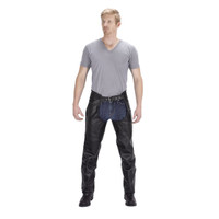 Nomad USA Braided Motorcycle Leather Chaps For Men