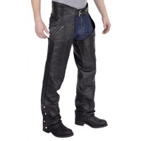 Nomad USA Elastic Fit Leather Chap Front View