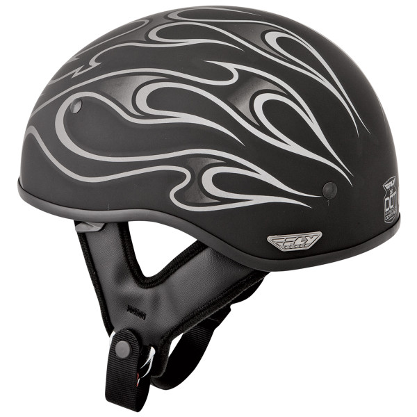 Fly Racing .357 Flame Helmet Gray