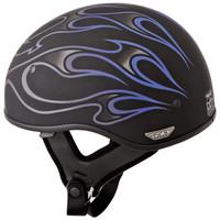 Fly Racing .357 Flame Helmet  Purple