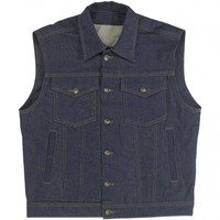 Biltwell Inc. Prime Cut Denim Collared Vest