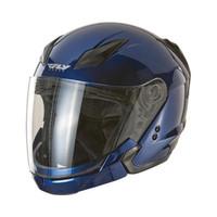 Fly Racing Tourist Solid Helmet Blue