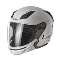 Fly Racing Tourist Solid Helmet White