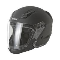 Fly Racing Tourist Solid Helmet Flat Black