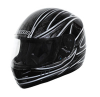 Vega Trak Junior Full Face Karting Helmet with Universe Graphic