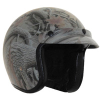 Vega X380 Open Face Helmet with Forest Graphic