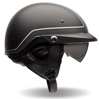 Bell PS PIT Boss Pin Stripe Half Face Helmet Black