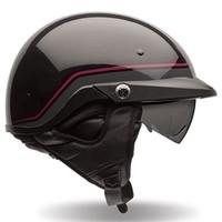 Bell PS PIT Boss Pin Stripe Half Face Helmet Black/Red