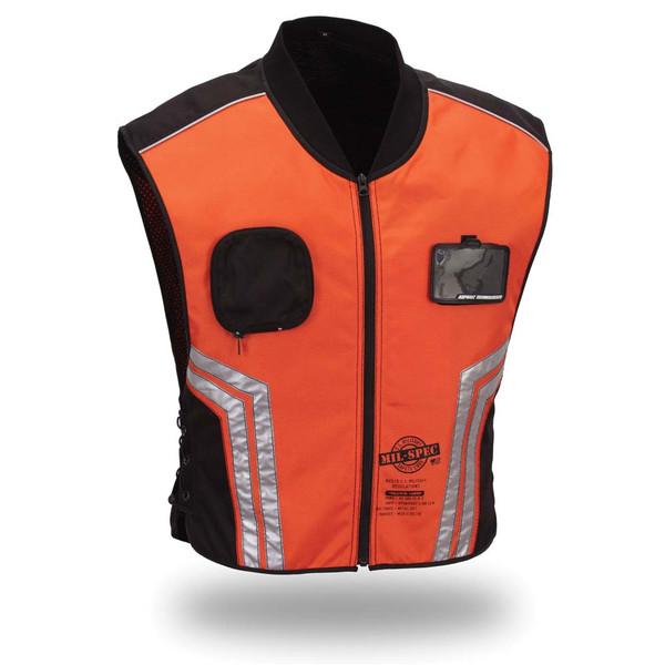 First Racing High Visibility Color Vest for Men Orange