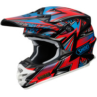 Shoei VFX-W Maelstrom Helmet Red Side View