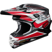 Shoei VFX-W Turmoil Helmet Red 1