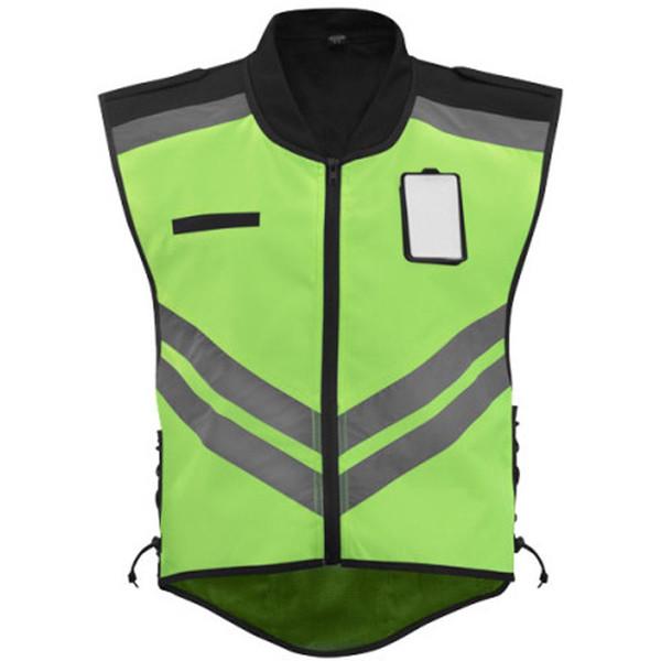 Vega Safety Mens Textile Vest Yellow Mesh 1