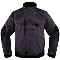 Icon Raiden DKR Jacket Black Front