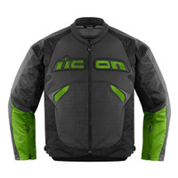 Icon Sanctuary Leather Jacket Green