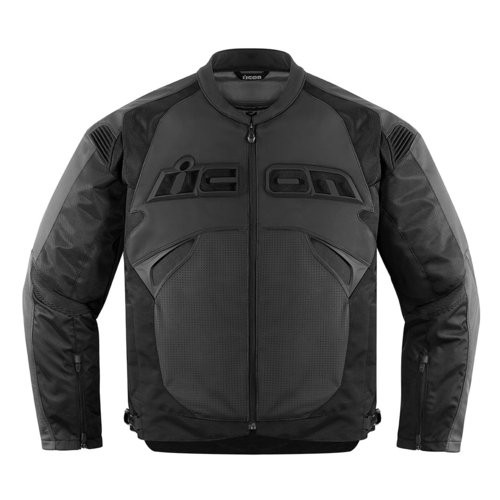 Icon Sanctuary Leather Jacket Black Front