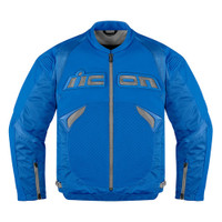 Icon Sanctuary Leather Jacket Blue