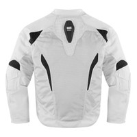 Icon Sanctuary Leather Jacket White Back