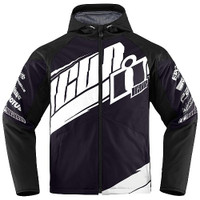 Icon Team Merc Jacket Black White Front
