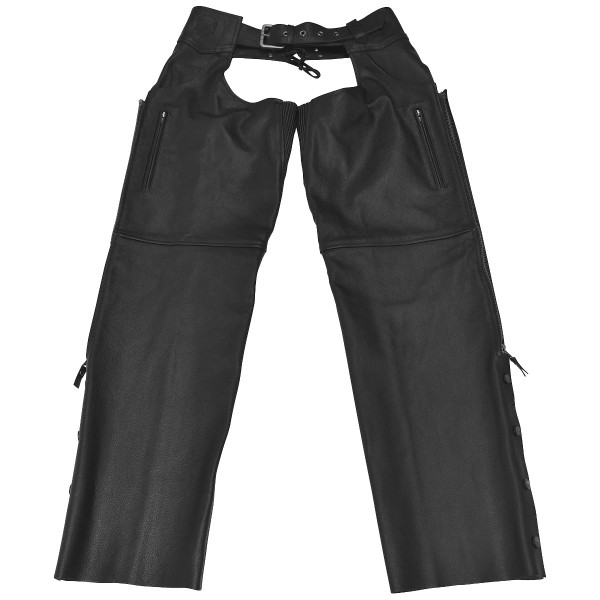 Black Brand Moto Chaps Black