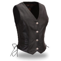 First Classics Women's Braided Buffalo Nickel Vest