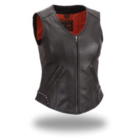 First Classics Taylor Women's Riveted Zip Front Vest