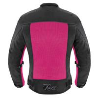 Joe Rocket Women's Velocity Jacket Pink Back Side View