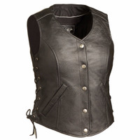 First Classics Honey Badger Ladies Leather Vest