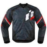 Icon Overlord Primary Jacket Red