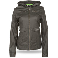 Fly Racing Waxed Ladies Jacket Black