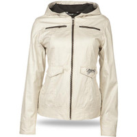 Fly Racing Waxed Ladies Jacket White
