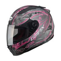 G-Max - FF88 Versailles Helmet Matte Black / Pink