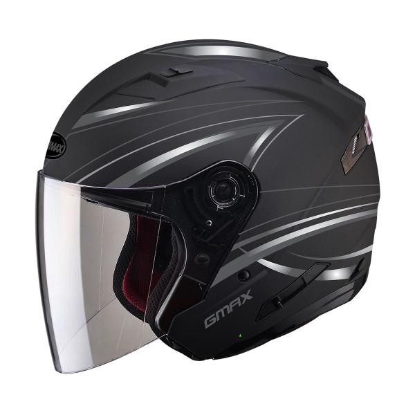 G-Max OF77 Derk Helmet Black / Silver
