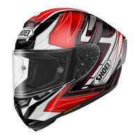 Shoei X-14 Asail Helmet Red