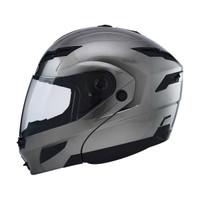 GMax GM54S Modular Helmet Flat Black Silver