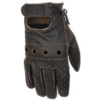 Black Brand Vintage Knuckle Gloves Brown