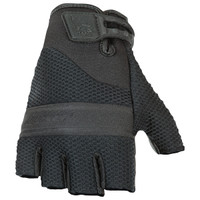 Joe Rocket Vento Fingerless Gloves Black Front Side View