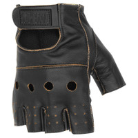 Black Brand Vintage Knuckle Shorty Gloves Brown