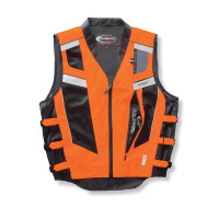 Olympia Blaze Hi-Viz Vest Orange Straight View