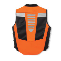 Olympia Blaze Hi-Viz Vest Orange Back Side View