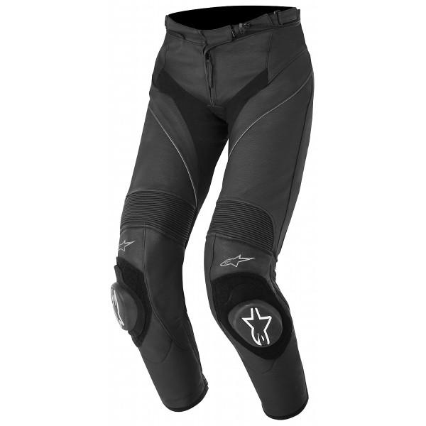 Alpinestars Stella Missile Leather Pants Black Front Side