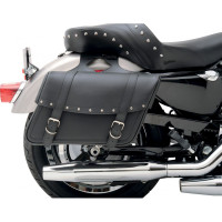 Saddlemen Highwayman Slant Saddlebags Studded