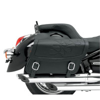 Saddlemen Highwayman Flame Tattoo Saddlebags Black
