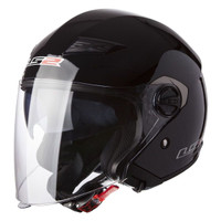 LS2 Track 569 Gloss Black Open Face Helmet