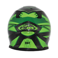Zox Matrix Carbon Abyss Helmets Green 2